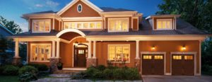 Home with Double Garage Doors